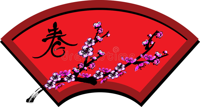 Download Plum flower stock vector. Image of tradition, china, culture - 3907269