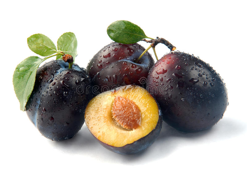 Plum and a half stock image