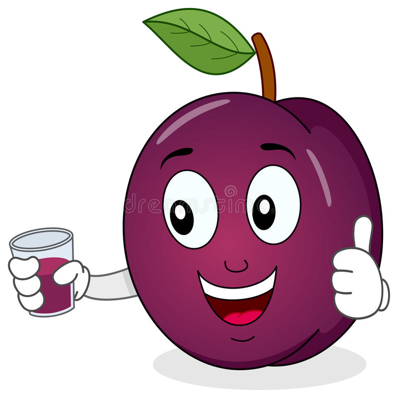 Free Plum Holding A Fresh Squeezed Juice Royalty Free Stock Image - 50382716