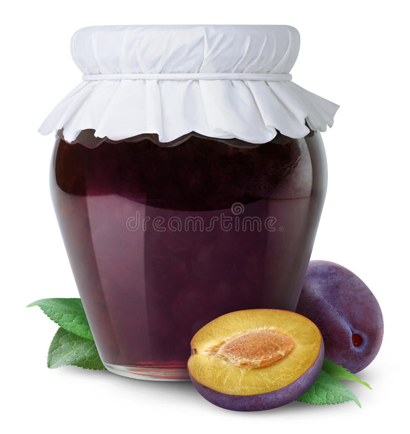 Download Plum jam stock photo. Image of jelly, preserve, packaging - 18836242