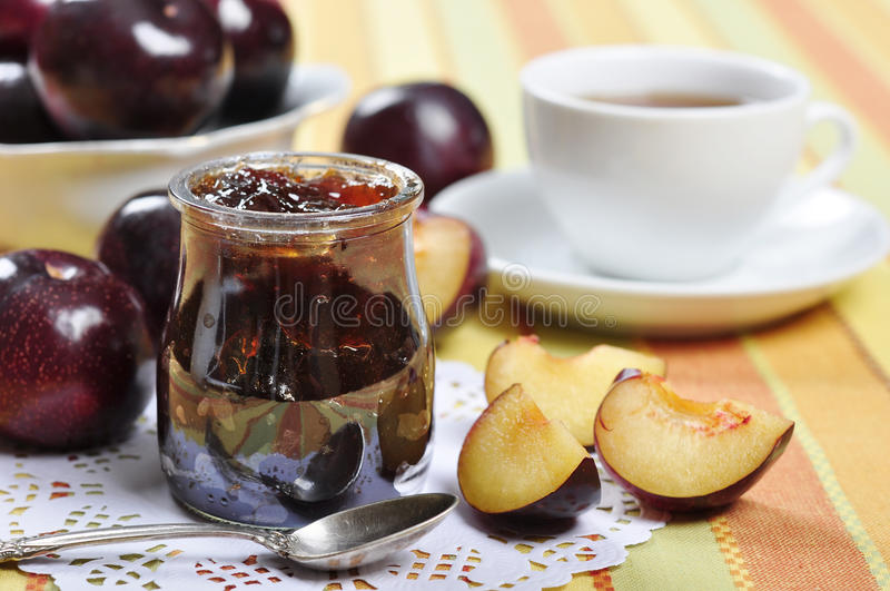 Download Plum jam stock image. Image of confiture, eating, homemade - 27218221
