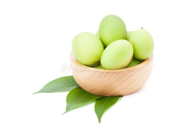 Plum Mango ou Marian Plum porte des fruits macrophylla Griffith de Bouea dedans photos libres de droits