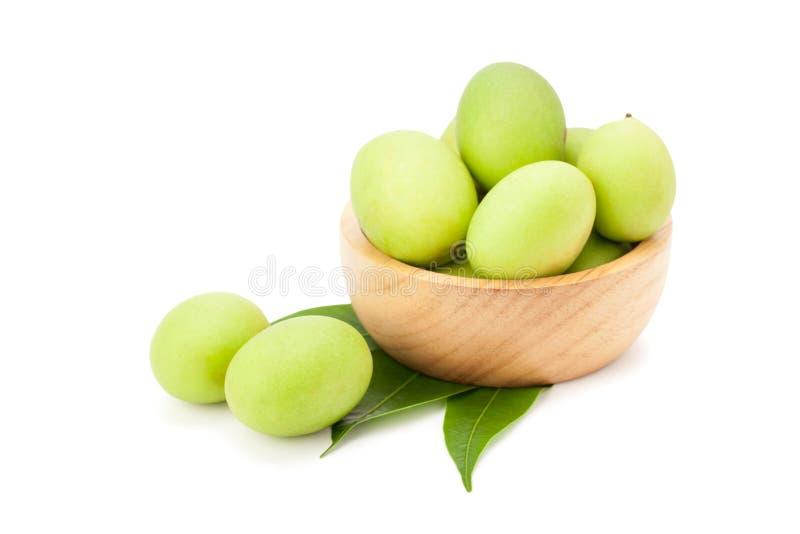 Plum Mango ou Marian Plum porte des fruits macrophylla Griffith de Bouea dedans image libre de droits