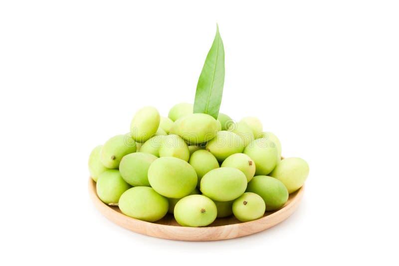 Plum Mango ou Marian Plum porte des fruits macrophylla Griffith de Bouea dedans photographie stock