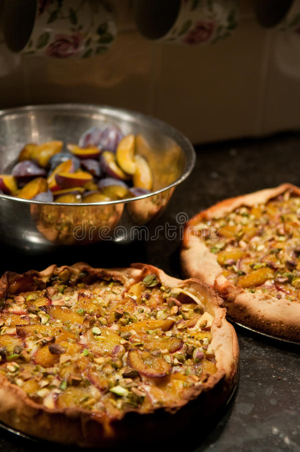 Plum pies royalty free stock images