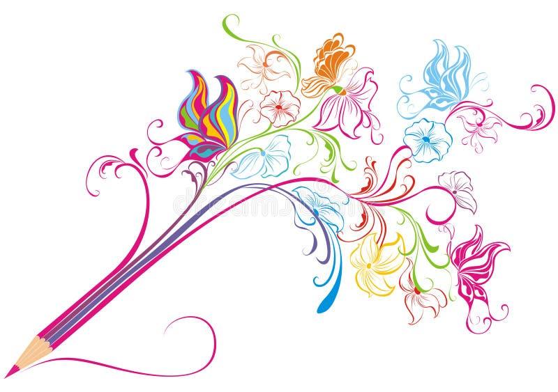 Pluma creativa. Ilustración del vector   stock de ilustración