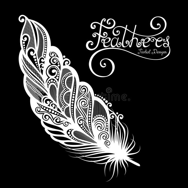 Pluma decorativa sin igual del vector libre illustration