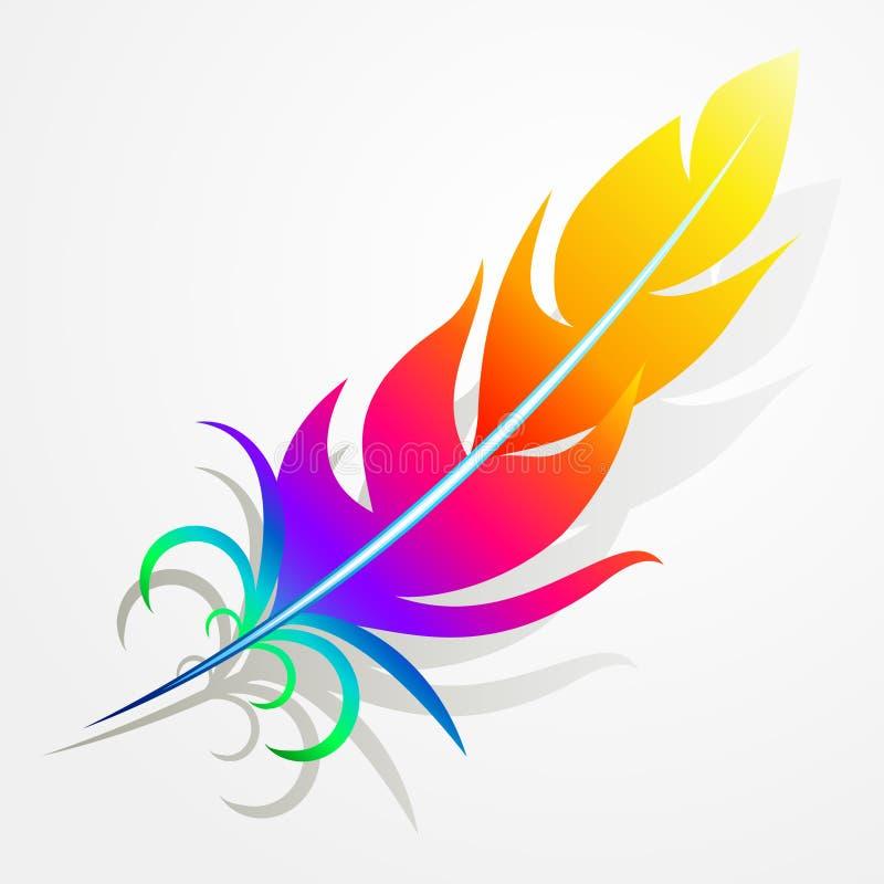 Pluma del arco iris imagen de archivo libre de regalías