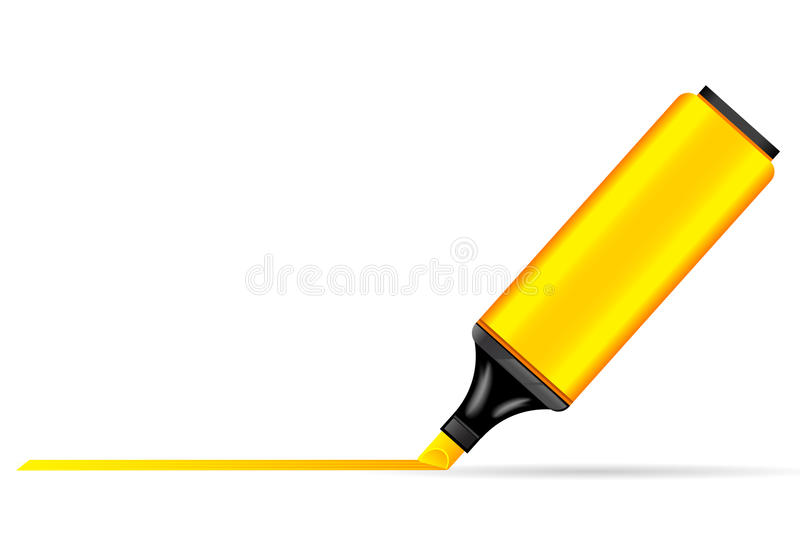 Pluma del Highlighter stock de ilustración