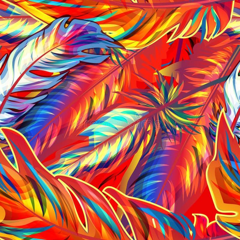 Pluma exótica stock de ilustración