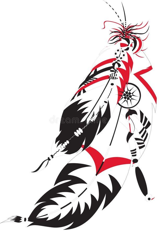 Pluma india ilustración del vector