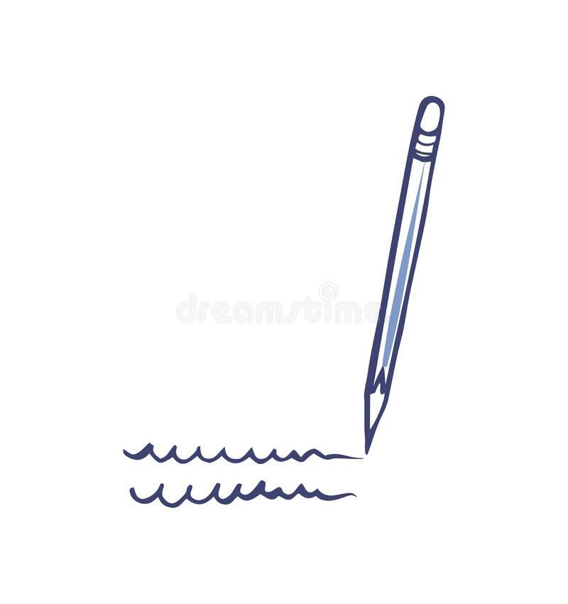 Pluma o lápiz que escribe vector aislado herramienta del icono libre illustration