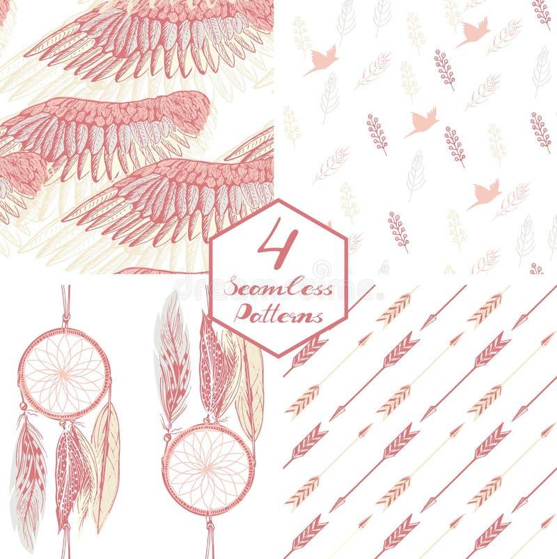 Pluma rosada ilustración del vector