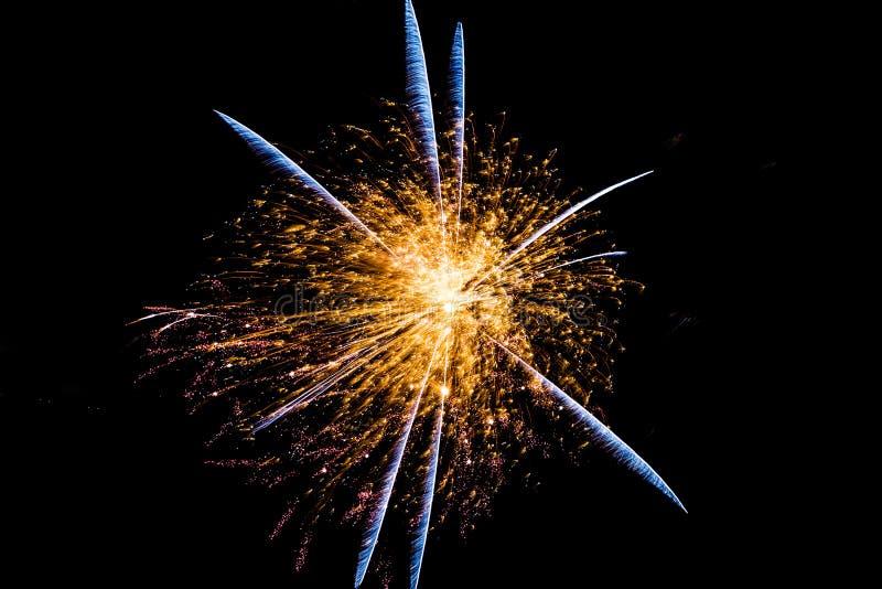 Pluma Starburst del fuego artificial foto de archivo