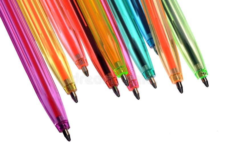 Plumas de neón de varios colores imagen de archivo