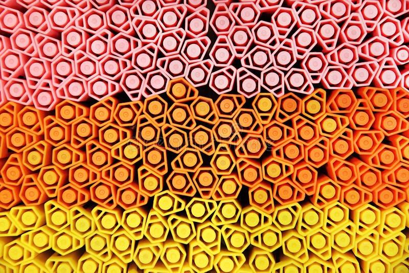 Plumas de neón del color fotos de archivo
