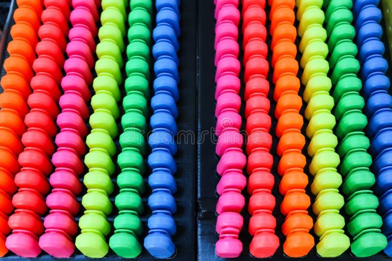Plumas del color imagen de archivo