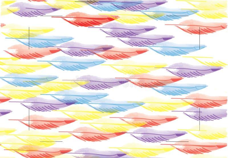 Plumas multicoloras imagenes de archivo