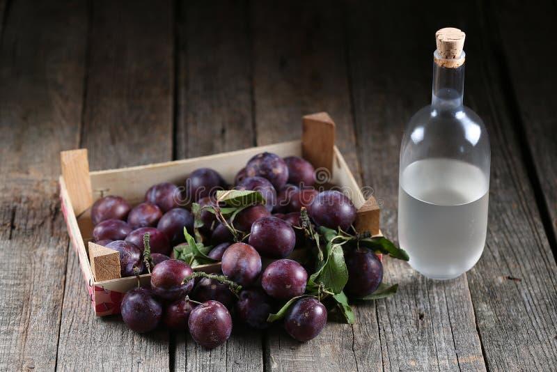 Plumb brandy, Romanian tuica royalty free stock photos