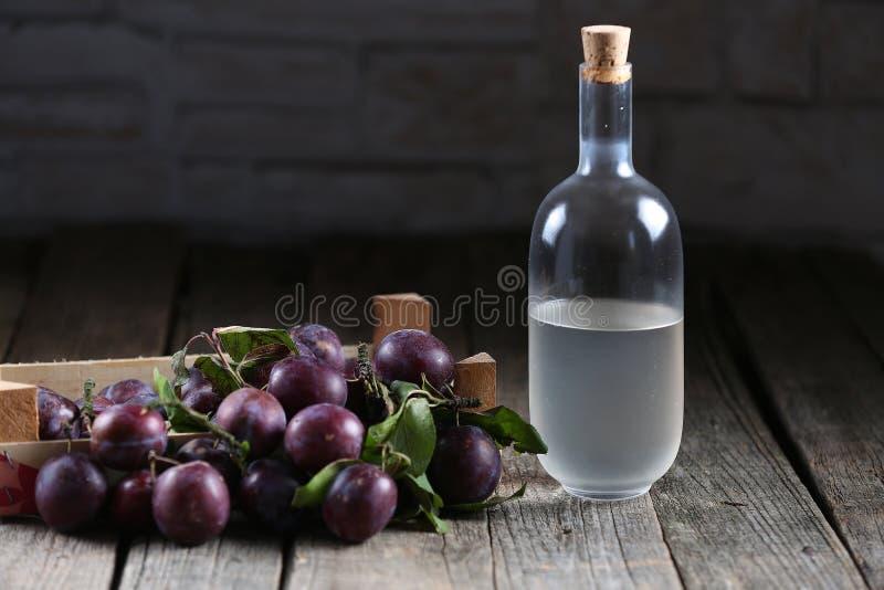Plumb brandy, Romanian tuica royalty free stock images