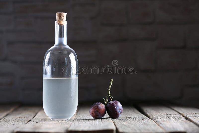 Plumb brandy, Romanian tuica royalty free stock photography