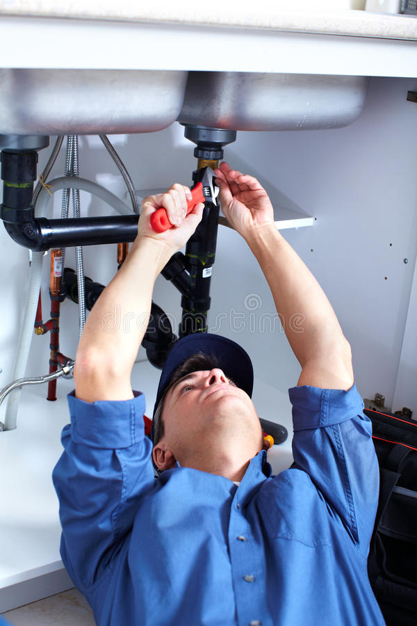 Download Plumber stock photo. Image of ladder, professional, kitchen - 16980486