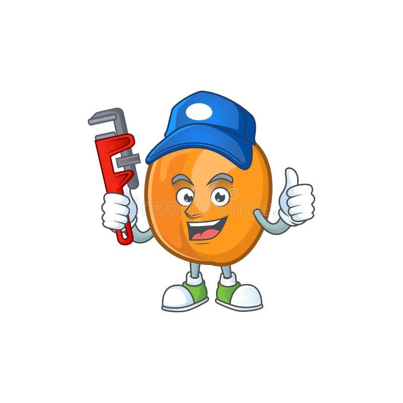 Plumber apricot fruit in the cartoon shape. Vector illustration vector illustration