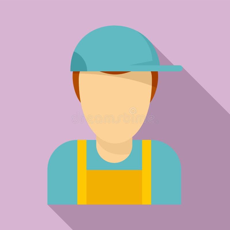 Plumber-Avatar-Ikone, flach lizenzfreie abbildung
