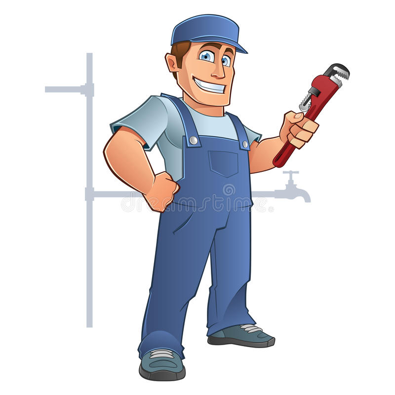Plumber royalty free illustration
