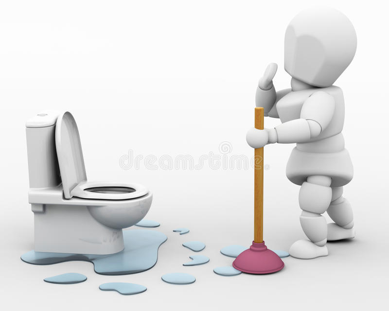 Download Plumber fixing a leak stock illustration. Image of construction - 12142734