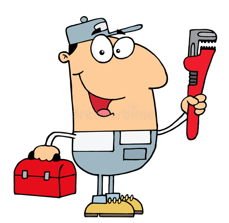 Plumber man stock illustration