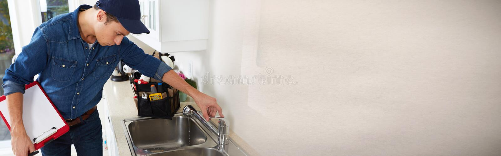 Plumber. stock images
