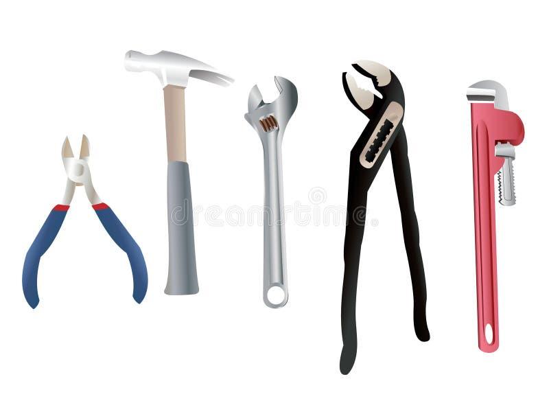 Plumber tools stock vector illustration of mechanic - Herramientas de fontanero ...