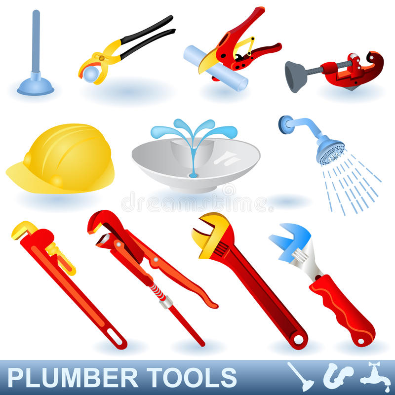 Plumber tools royalty free illustration