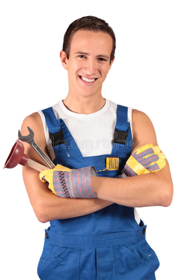 Download Plumber Trainee Royalty Free Stock Image - Image: 10975186
