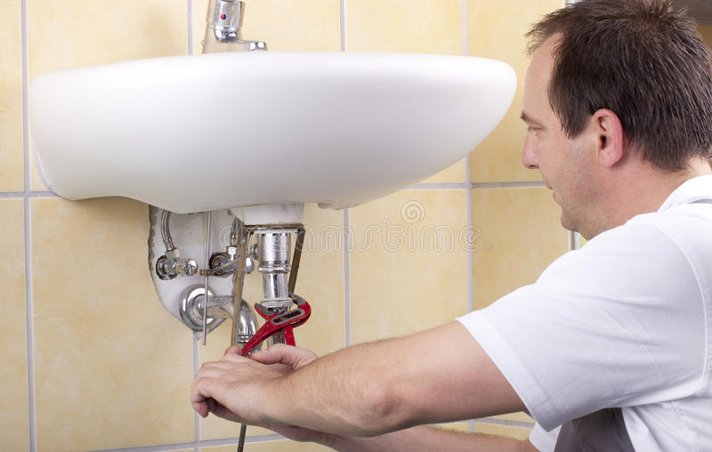 Download Plumber at work stock photo. Image of craftsman, occupation - 20439522