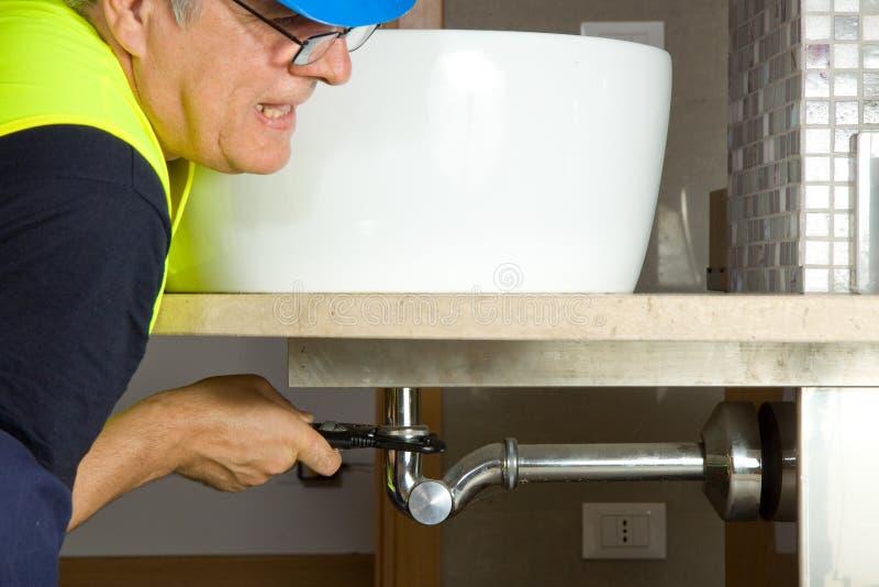Download Plumber At Work Stock Photo - Image: 27649710
