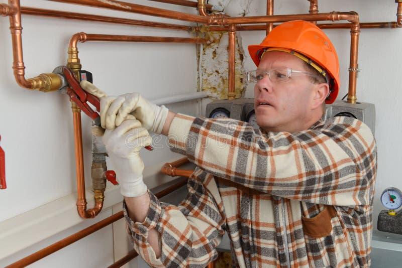 Plumber at Work royalty free stock image