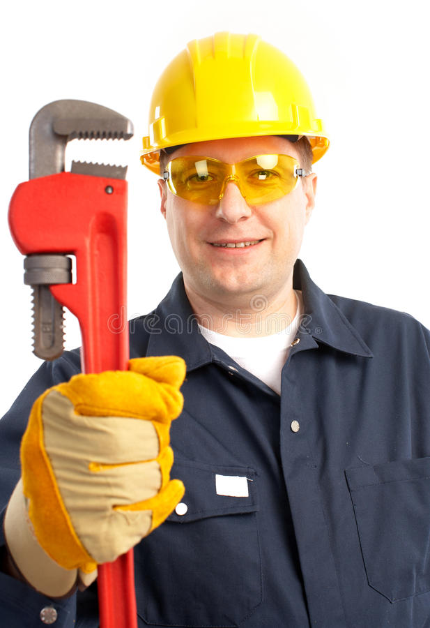 Plumber worker royalty free stock photography