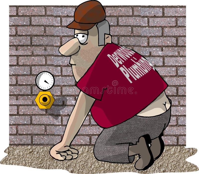 Plumbers Crack stock illustration