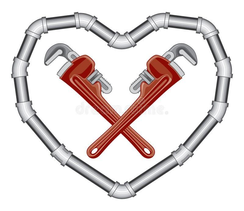 Download Plumbers Valentine stock vector. Illustration of steel - 18244695