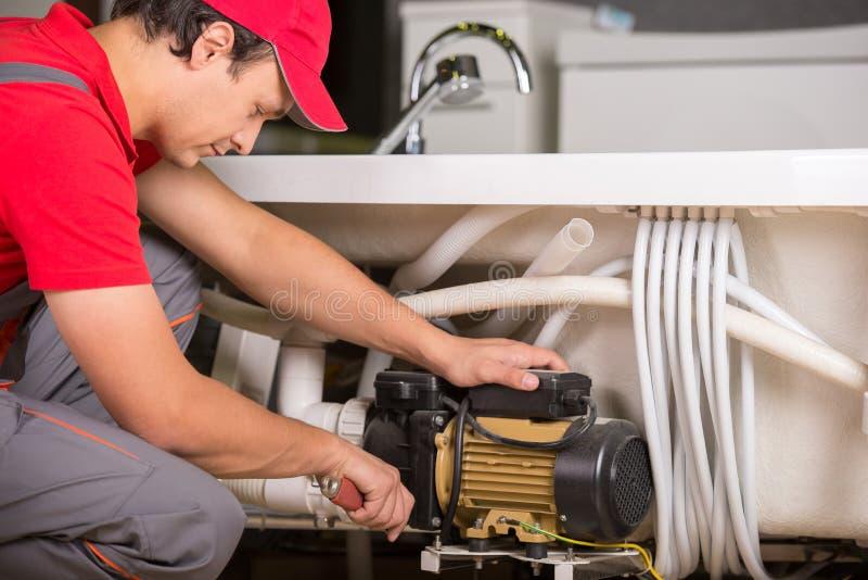 plumbing fotografie stock