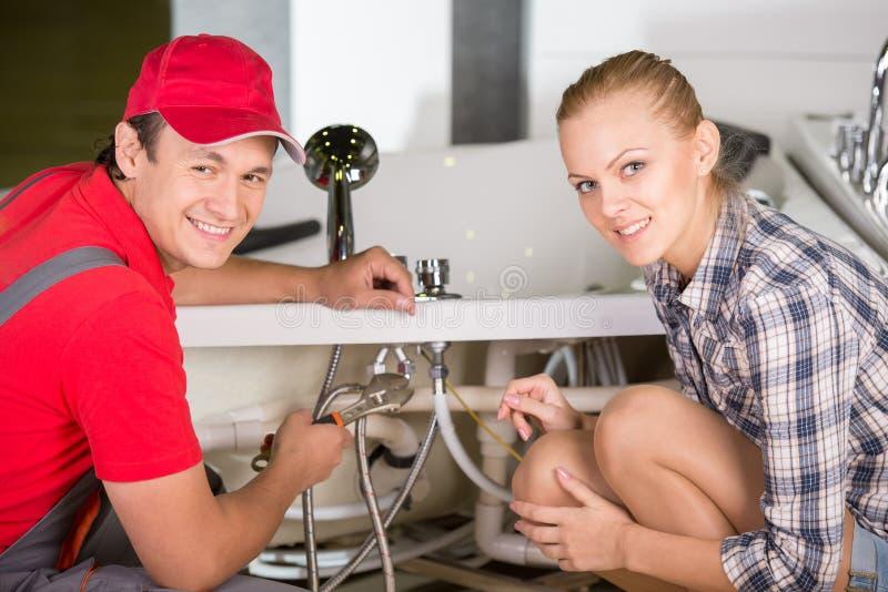 plumbing fotografia stock