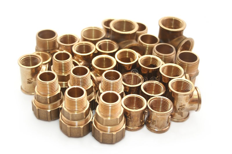 Plumbing fittings stock image