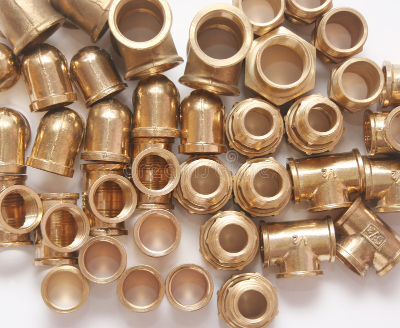 Download Plumbing Fittings stock photo. Image of copper, fittings - 8872426