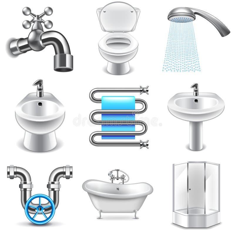 Free Plumbing Icons Vector Set Royalty Free Stock Image - 66523526