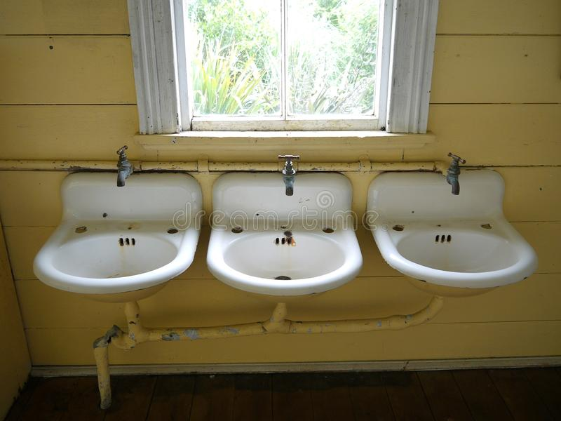 Download Plumbing: old wash basins stock photo. Image of drain - 22707808