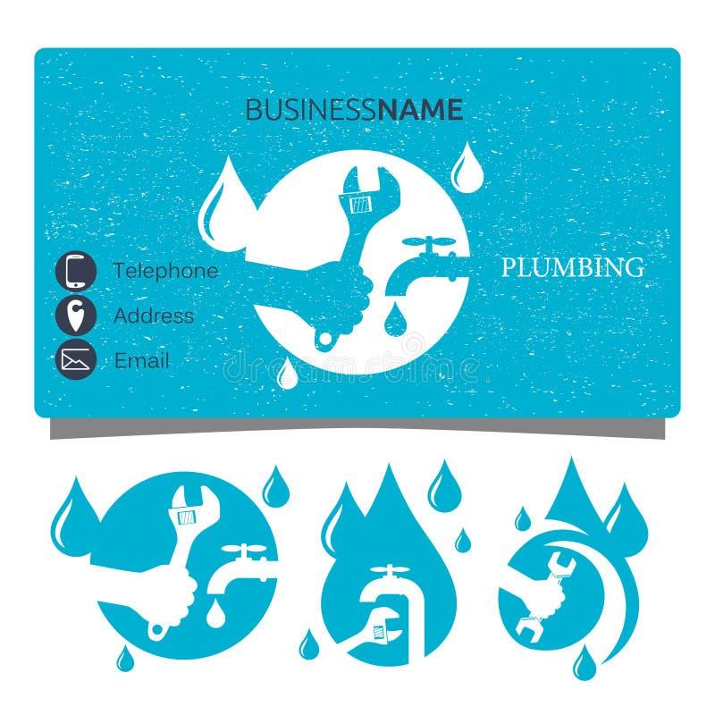 Plumbing Repair Business Card Design Vector Stock Vector ...