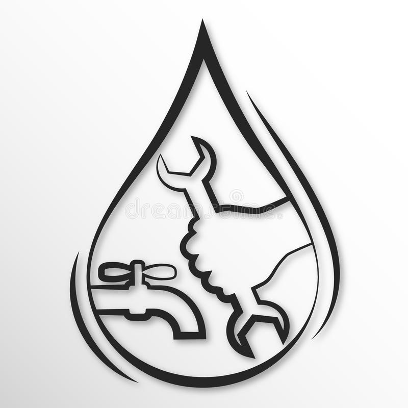 Plumbing repair stock illustration