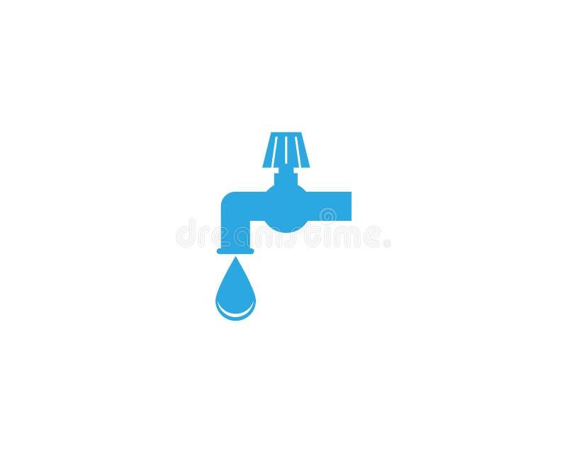 Plumbing service logo design template.  royalty free illustration